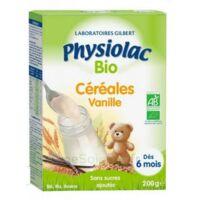 Physiolac Céréales Vanille Bio B/200g à Voiron
